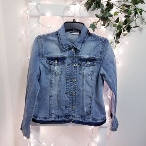 Yessica distressed denim Jean jacket small